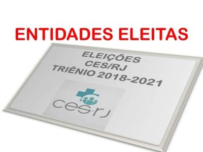 RESULTADO FINAL DAS INSTITUIÇÕES HOMOLOGADAS NAS ELEIÇÕES CES/RJ TRIÊNIO 2018 - 2021