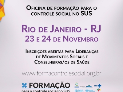 OFICINA DE FORMAÇÃO PARA O CONTROLE SOCIAL NO SUS