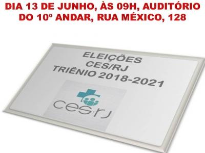 ELEIÇÕES NO CES TRIÊNIO 2018-2021!