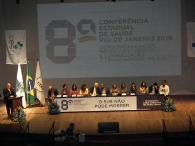 CONFERÊNCIA ESTADUAL DE SAÚDE DO RIO ABRAÇA A DEFESA DO SUS
