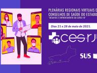 Comunicado do CES-RJ sobre a Plenária Regional de Conselhos de Saúde do dia 14 de maio