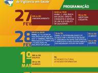 CONFIRA A PROGRAMAÇÃO DA 1ª CONFERÊNCIA NACIONAL DE VIGILÂNCIA EM SAÚDE!