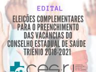 ELEIÇÕES DO CES-RJ: SAIU O EDITAL PARA PREENCHIMENTO DA ÚLTIMA VACÂNCIA DO COLEGIADO