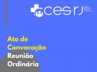 ATO DE CONVOCAÇÃO DA REUNIÃO ORDINÁRIA 12/11/2019