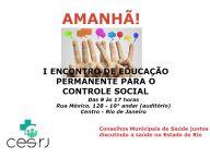 I ENCONTRO DE EDUCAÇÃO PERMANENTE PARA O CONTROLE SOCIAL