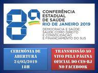 COMEÇA AMANHÃ A 8ª CONFERÊNCIA ESTADUAL DE SAÚDE DO RIO DE JANEIRO